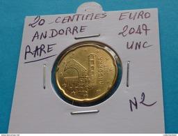 RARE *** 20 CENTIMES  EURO  ANDORRE  2017 Neuve Sortie De Rouleau - Andorre