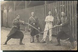 CPA Carte Photo Entrainement Au Combat à La Baïonnette - WW1 - Circulée ? - War 1914-18