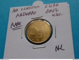 RARE *** 10 CENTIMES  EURO  ANDORRE  2017 Neuve Sortie De Rouleau - Andorre