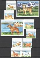 W866 1993 GRENADA FAUNA PETS DOGS OF THE WORLD #2519-26 MICHEL 34 EU 2BL+SET MNH - Hunde