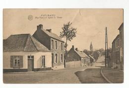 Pâturages Rue Neuve Et Eglise N. Dame Vue Générale Carte Postale Ancienne - Colfontaine