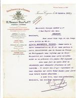 16 JARNAC-COGNAC Lettreà En-tête Illustrée  Union Vinicole De LaCharente MERLIN & Fils  327 - Alimentaire