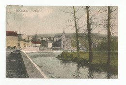 Jemelle L'Eglise Carte Postale Ancienne Panorama - Rochefort