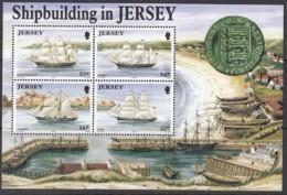 JERSEY  Block 6, Postfrisch **, Schiffbau Auf Jersey 1992 - Jersey