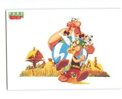 BD Bande Dessinée Parc Asterix Le Village Asterix Obelix Idefix CPM Carte Postale Moderne Thème Bandes Dessinées 1989 - Bandes Dessinées