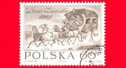 POLONIA - Usato - 1964 - Giornata Del Francobollo - Diligenza Di J. Brodowski - 60 - Usados