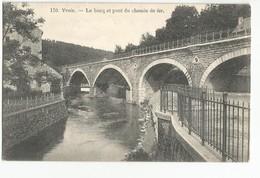 Yvoir Le Bocq Et Le Pont Du Chemin De Fer Carte Postale Ancienne - Yvoir