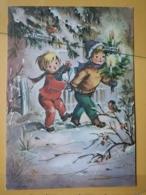KOV 8-176 - NEW YEAR, Bonne Annee, Children, Enfant, BIRD, OISEAU - Nouvel An