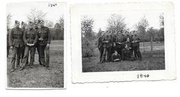 Soldats Armée Belge  Camp De Casteau 1940  Photo 5,5x8 Et 10x7 - Guerre, Militaire