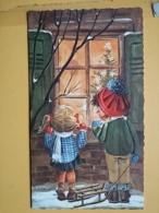 KOV 8-176 - NEW YEAR, Bonne Annee, Children, Enfant, SLEDGE, LUGE - Nouvel An
