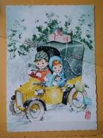 KOV 8-176 - NEW YEAR, Bonne Annee, Children, Enfant, AUTO, CAR - Nouvel An