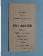 Communion Solennelle De Nelly Et Josette BOXHO à AUDERGHEM Le 7 Avril 1935 ( Voir / Zie Foto's ) ! - Communion
