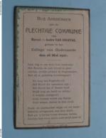 Plechtige Communie Van Marcel En André VAN ONGEVAL I/h College Van OUDENAARDE Op 26 Mei 1921 ( Voir / Zie Foto's ) ! - Communion