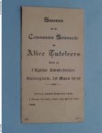 Comunion Solennelle De Alice TUTELEERS à L'Eglise Saint-Julien AUDERGHEM Le 20 Mars 1936 ( Voir / Zie Foto's ) ! - Communion