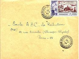 Cachet De  BELO SUR  TSIRIBIHINA (district De Morondava) - 1954 - - Madagascar (1889-1960)