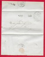 PONTIFICIO - 1855 Lettera VITERBO TOSCANELLA - Timbro Postale VITERBO - Sigillo DIREZIONE DI POLIZIA E Datario - 1900-44 Victor Emmanuel III