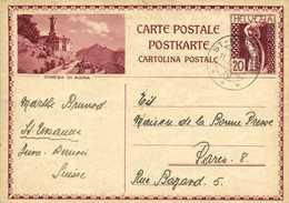 Entier Postal 20 Helvetia Chiesa Di Agra Cachet St Ursanne 1933 RV - Ganzsachen