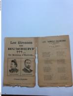 Partition Musicale :  Les étrennes Des HUMBERT, Viens, Thérese Concert Du Quai De L'horloge  Marius Réty - Partitions Musicales Anciennes