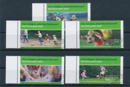 GERMANY Mi. Nr. 2324-2328 Sporthilfe: Fußball-Weltmeisterschaft 2006 In Deutschland- Used - Gebraucht
