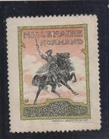 """ROUEN : """"Millénaire Normand """"- ( 911 / 1911.) Statue De Guillaume Le Conquérant à Falaise. - Erinnophilie"""