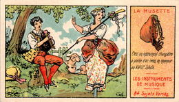 Image Les Instruments De Musique (48) La Musette The Haversack Der Haversack Lo Zaino Texte Au Recto Superbe.Etat - Autres