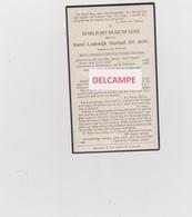 """DOODSPRENTJE DE ROP KAREL ECHTGENOOT HEYMAN NIEUWKERKEN 1889 - 1922  MET FOTO  """"ANTI-KOPIE"""" - Images Religieuses"""