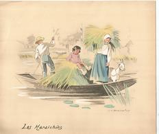 Gravure Couleur J H BONNEFOY, Les MARAICHINS - Stampe & Incisioni