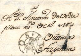D.P. 7. 1782 (23 ABR). Carta De Burgos A Azpeitía. Marca P.E. 5N Y Porteo 4. Bonita. - Espagne