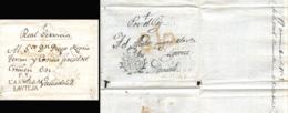 D.P. 14. 1805. Envuelta De Doble Uso De Fuentesaúco A Valladolid. Manuscrito Real Servicio. Marca P.E. 1N. Interior Circ - Spanje