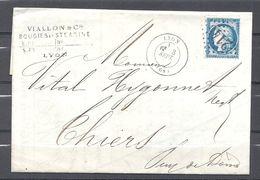 Cérès De Lyon à Thiers - Marcophilie (Lettres)