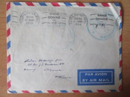 Maroc - Enveloppe En Franchise Militaire - 134e Bataillon D'Infanterie - Port-Lyautey - 17 Janvier 1956 - Flamme Sang - Maroc (1891-1956)