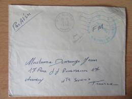 Enveloppe Circulée De Sidi Slimane Maroc Vers Annecy - Franchise Militaire 134e Bataillon D'Infanterie - 04/02/1956 - Morocco (1891-1956)