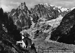 Cartolina Notre Dame De La Guerison Ghiacciaio Brenva E M. Bianco Courmayeur - Italy