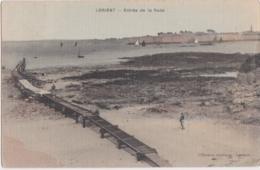 Bv - Cpa Toilée LORIENT - Entrée De La Rade (en Fait Passage Entre Port Louis Et Larmor Plage) - Lorient