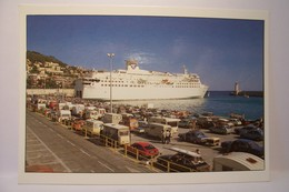 """NICE  - Embarquement Pour La Corse  - BATEAU """" ESTEREL """" ( S.N.C.M. ) - AUTOMOBILES   - ( Pas De Reflet Sur L'original ) - Maritiem Transport - Haven"""