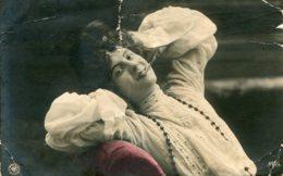 RUSSIA - Yong Woman Smoking (untitled) - VG Russian Postmarks 1909 TAGANROG - Postcards
