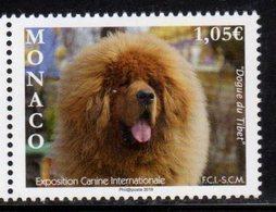 MONACO, 2019, MNH, INTERNATIONAL DOG SHOW, DOGS,  1v - Perros