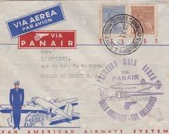 BRASIL -  FIRST FLIGHT / PRIMEIRA MALA AEREA, VIA PANAIR, BELLO HORIZONTE - GOV. VALLADARES. IN 1940, PAN AMERICA -LILHU - Luchtpost