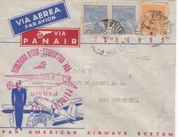 BRASIL -  FIRST FLIGHT / PRIMEIRA MALA AEREA, VIA PANAIR, GOV. VALLADARES - BELLO HORIZONTE. IN 1940, PAN AMERICA -LILHU - Luchtpost