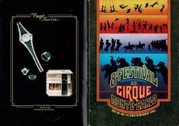 Programme De Luxe Du 8e Festival Du Cirque De Monte-Carlo  56 Pages Super état, Papier Glacé. 21/30 Cm - Programma's