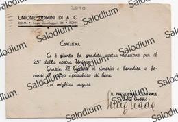 Autografo Signature Autographe  - LUIGI GEDDA - Unione Uomini Di Azione Cattolica Centro Sportivo Italiano Sport - Autografi