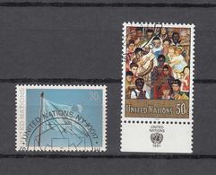 NATIONS  UNIES  NEW-YORK    1991    N° 595 à 598  OBLITERES   CATALOGUE YVERT&TELLIER - New-York - Siège De L'ONU