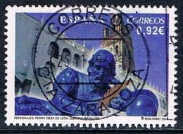 Espagne - Pedro Cieza De Leon 4555 (année 2014) Oblit. - 1931-Aujourd'hui: II. République - ....Juan Carlos I