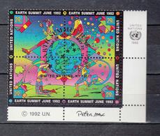 NATIONS  UNIES  NEW-YORK    1992    N° 609 à 612  OBLITERES   CATALOGUE YVERT&TELLIER - New-York - Siège De L'ONU