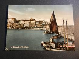 20020) PROVINCIA CAMPOBASSO TERMOLI IL PORTO VIAGGIATA 1950 - Campobasso