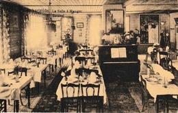 Lombartzijde La Salle à Manger Nieuport Hôtel Restaurant De L'Yser Ancienne Affiche Chemin De Fer De L'état - Nieuwpoort