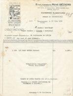 FA 1616 - FACTURE -  LA SARDINE DU YACHT-CLUB  RENE BEZIERS DOUARNENEZ       1952 - Alimentaire