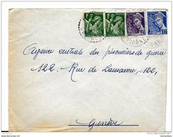 64 - 75 - Enveloppe Envoyée De Dordogne à La Croix Rouge / Agence Prisonniers De Guerre Genève 1940 - Postmark Collection (Covers)