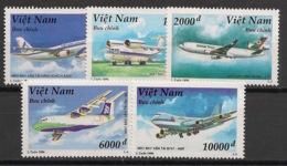 Vietnam - 1996 - N°Yv. 1637 à 1641 - Avions - Neuf Luxe ** / MNH / Postfrisch - Vietnam