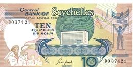 BILLET  SEYCHELLES 10 RUPEES - Seychelles
